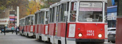 Третий маршрут трамвая временно остановлен