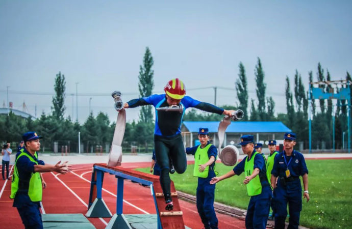 Впервые на чемпионате спорта по пожарно-спасательному спорту,  в Саратове ,проводятся сразу четыре Чемпионата среди спасателей