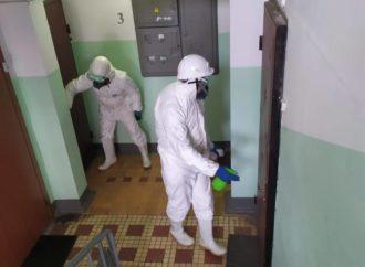 В большей части многоэтажек в городе провели дезинфекцию.