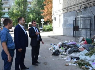Депутаты и сотрудники администрации города проверили состояние площадок по сбору ТКО, перенесенных с красных линий на придомовые территории